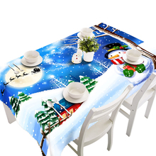 Ouneed tablecloth 2017 80 * 130 cm Santa Claus table cloth christmas Party Decor*30 GIFT(China)