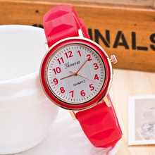 Wholesale Jelly Color Silicone Watch Fashion Quartz Watches Women zegarki damskie drop shipping