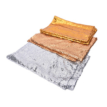 1Pcs Embroidery Mesh Sequin Tablecloth Sequin Table Overlay For Wedding/Party Decor Home Textile 3 Colors 30x180cm(China)