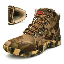 Camouflage Tactical Military Combat Men Boots Outdoor Warm Wool Shoes Hiking waterproof cotton Winter Men Snow Boots Size 38-45