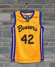 LIANZEXIN Scott Howard #42 TEEN WOLF Beavers MOVIE MICHAEL J FOX Werewolf Yellow Basketball Jersey Gold for Sale(China)