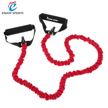 2016 Newest Pull Rope Elastic Rope Crossfit Set Multifunctional Training Equipment Rubber Resistance Bands Belt 1.2m
