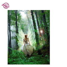 ANGEL'S HAND 5d diy diamond painting round full cube diamond embroidery pattern The Female Fairy hobbies and diamond mosaic