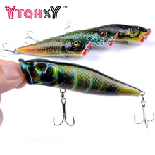 1pcs 9.5cm 12g Popper Fishing Lures 3D Eyes Bait Crankbait Wobblers Isca Poper Pesca Japan fishing tackle YE-356