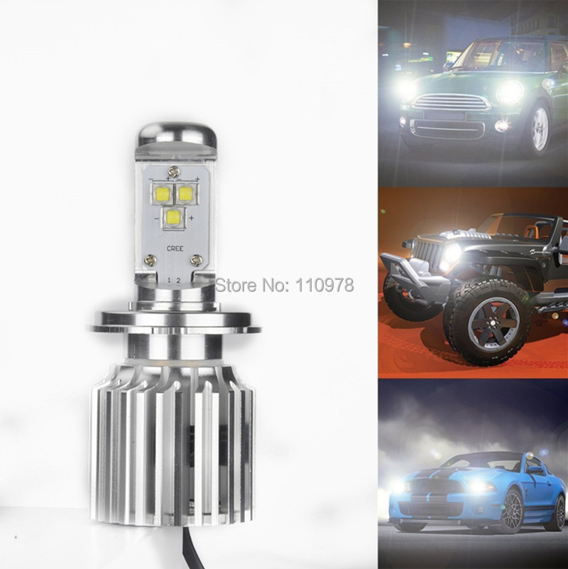 High Power 30W Xenon White H4 9003 HB2 T6 CREE Chips LED Hi/Lo Motorcycle Headlight Bulb Built-in Resistor LED Head Lights<br><br>Aliexpress