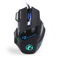 NEW Wired Gaming Mouse 7 Buttons Optical Professional Mouse Gamer E-Sports Computer Mice For Laptops Desktops Raton Ordenador X7(China)