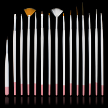 15 Pcs Acrylic UV Gel Nail Art Salon Painting Drawing Pens  Brushes Manicure DIY  Decorations Tools Set  Chic Design 5GL6
