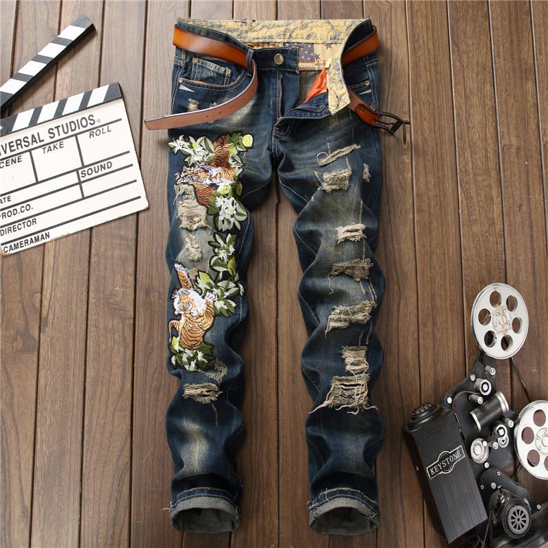 Mens ripped denim jeans03