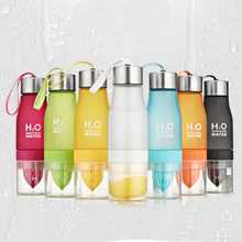 7Colors Frosted Leak-proof Plastic bottle 650ml Lemon bottles H2O Portable Sports Water Bottle For Outdoor Sport Running Camping