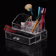 Modern Design Home Bedroom Crystal Acrylic Cosmetic Makeup Organizer Transparent Jewelry Makeup Tools Case Stand Rack Holder