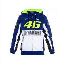 Free shipping  Valentino Rossi VR46 M1 Factory Racing Team Moto GP Adult Hoodie Sports Sweatshirt Jackets Blue