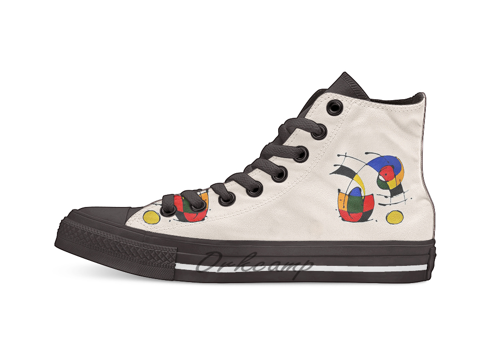 Canvas Shoes Joan Miro Casual of Novelty-Design In-The-Style title=