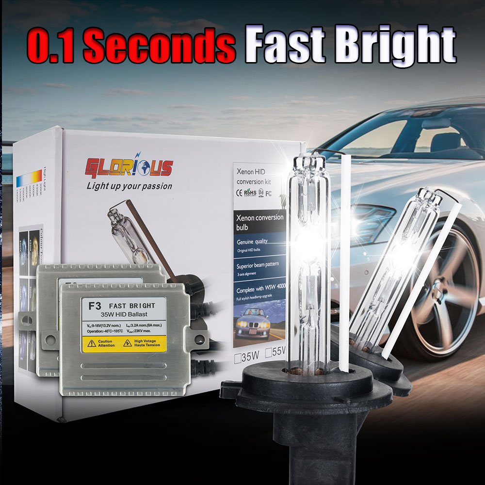 35W AC Fast Start Ballast F3 HID Xenon lamp Kit H3 hid xenon bulb 3000K 4300K 5000K 6000K 8000K Blue Pink Purple,H3 xenon bulb<br><br>Aliexpress