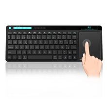 New Spanish  Rii mini K18 ultra slim 2.4G Multimedia Wireless Keyboard with Touchpad mouse for Android/Smart TV Box