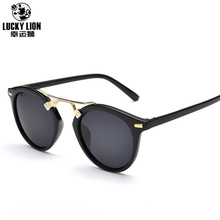 New Product Street Snap Retro Vintage Women Sunglasses Trendsetter Colored Film 7 Color To Selection For Brand Designer(China)
