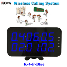 Ycall Restaurant order device high quality new touch screen wireless calling call display K-4-F-blue(China)