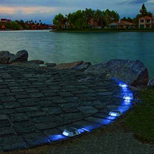 Solar LED Dock Path Deck Road Stud Maker Light Waterproof Security Lights Lamp Outdoor Driveway Pathway Yard Garden Step Lamp