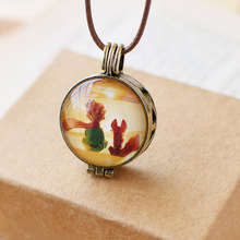 Long Rope Chain Loket Frame Vintage Fairy Tale Le Petit Prince with Fox Pendant Necklace For Children Girls Kids Gifts(China)