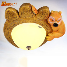 Remote Control Cartoon Bear Lantern Light Led Lampshade Children Bedroom Lamp Eye Protection LED Lighting for Children Bedroom