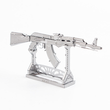 3D Puzzle AK-47 Sniper Jigsaw Educational Toys Weapon Stainless Steel Assembly Model DIY Adult Child Toy Model(China)