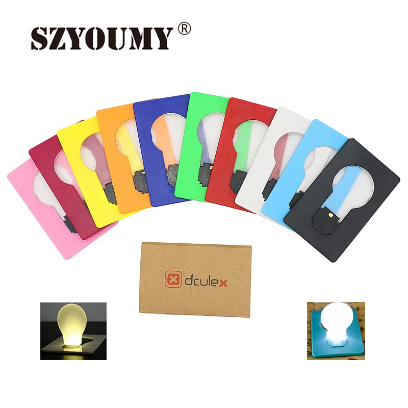 SZYOUMY ABS Small THIN Portable LED Card Light Bulb Lamp Pocket Wallet Size Emergency Novelty Light LED Wallet Lamp(China (Mainland))