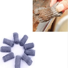 1Set/12pcs Kitchen Steel Wool Ball Wash Tool Pot Pan Dish Bowl Palm Brush Scrubber Cleaning Cleaner  2017