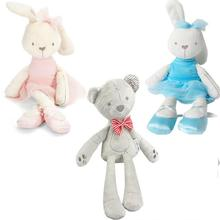 Cute rabbit stuffed plush toddler toys lovely soft appease little bear dolls children Christmas gifts(China)
