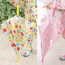 2018 Cute Cartoon Kids Umbrella Children Girls As Novelty Gifts Fully-Automatic umbrella(China)