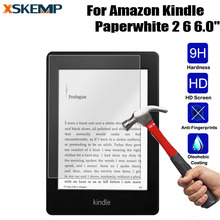 Premium Tablet Toughened 9H Tempered Glass For Kindle paperwhite 2 6.0 inch No Fingerprint Transparent LCD Film Screen Protector(China)