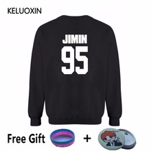 KELUOXIN 2017 Kpop BTS Big Logo Bangtan Boys Fleece Hoodies For Women Men Unisex Sweatshirt Winter Hip Hop Streetwear Clothing
