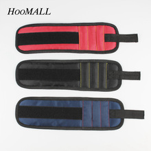Hoomall 3 Magnets Portable Magnetic Wristband Powerful Tool Bag Magnetic For Holding Screws Nails Drill Bits Repair Tools New(China)