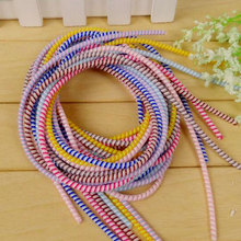 3 color in 1 150cm Wire Rope Protection Cable Winder USB Data Cable Protector for iPhone 4s 5s 6s Plus 7 Android Samsung xiaomi