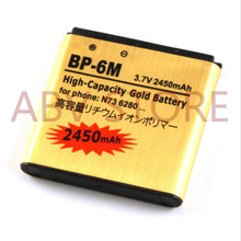Original ABV Golden BP-6M BP6M Battery For Nokia Mobile Phone N73 N77 N93 N93S 3250 6151 6233 6280 6290 9300 Battery 6M(China)