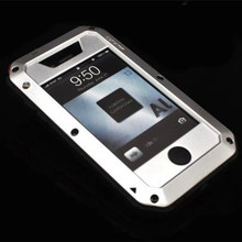 RJ case For iPhone4 Waterproof shock dirt proof Phone case For apple iPhone 4 4G 4S Aluminum cover Cases Phone housing(China)