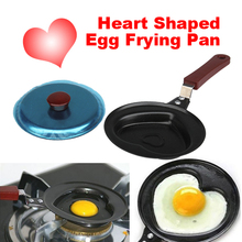 1pcs Lovely Heart Shaped Non-sticky Egg Frying Pan Mini Stainless Steel Pan(China)