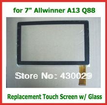 "2pcs 7"" Capacitive Touch Screen with Glass Replacement Screen for 7 inch Allwinner A13 Q88 FPCWT1017A070V01 Tablet Wholesale"