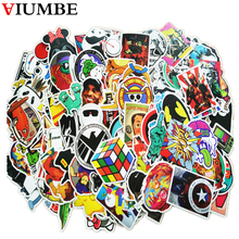 100 PCS / Pack mixed single car sticker waterproof home decor Doodle laptop motorcycle bike travel case decal Car accessories(China)