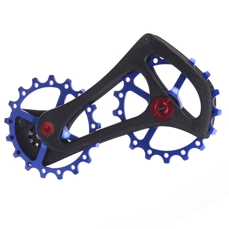 4 bestgia 17T Carbon Fiber Bike Rear Derailleur Jockey Pulleys Wheel Steel Bearing Ultralight Bicycle Jockey Wheel for Shimano Ultegra