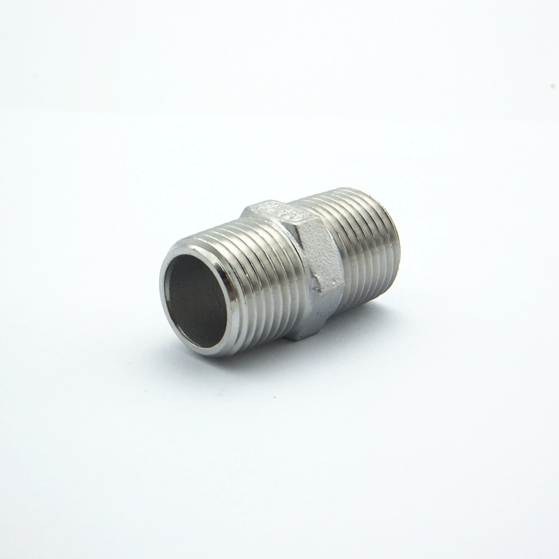 uxcell Brass Pipe Fitting Hex Nipple 1//2 PT Male x 1//2 PT Male Thread Connector Nickel Plated