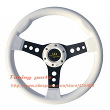 LYJ White Steering Wheel ABS Sport Racing Car Steering Wheel Non-Slip Game Steering Wheel(China)