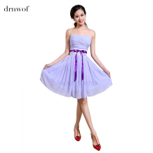 2017 New short plus size cheap bridesmaid dresses under 50 Wedding party lavender lilac light purple burgundy royal blue dress