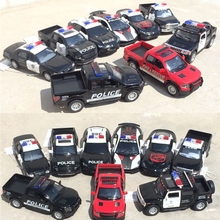 High imitation alloy car,1:36 scale alloy pull back Ford, Chevrolet, American Police,metal Pickup supercar,free shipping