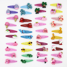Cute Cartoon Animals Hair Clip Girls Hair Accessories Headband Flower Crown Hairpin Droplet Boutique Hairpins for Girl 10pcs