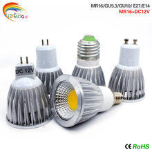1pcs Super Bright GU10 COB E27 E14 GU5.3 9W 12W 15W LED Bulb Lamp AC110V 220V MR16 spotlight Warm White/Cold White led LIGHTING(China)