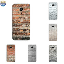 For Meizu Pro6 Plus Phone Case for Meizu MX4 Pro Silicone Shell Transparent for Meizu Pro5 Cover TPU Brick Pattern Coque