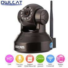 OwlCat Wifi IP Camera 720P Pan/Tilt Indoor Dome Wireless Network P2P CCTV Camera Night Vision Motion detection Mobile phone view