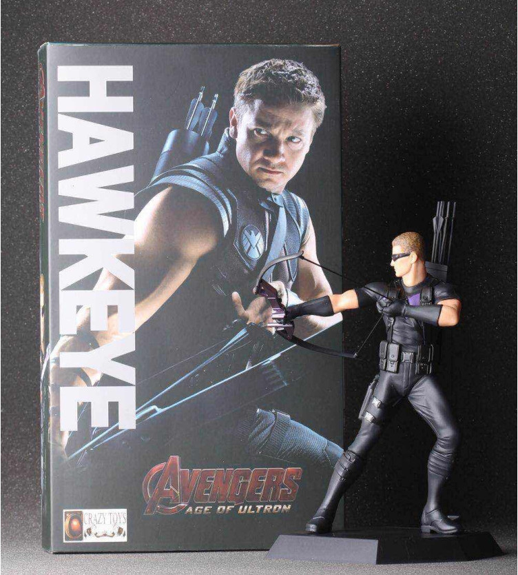 High Quality!!! Marvels Comics Marvels The Avengers Hawkeye 7inch PVC Action Figure Model Toys Gifts<br><br>Aliexpress