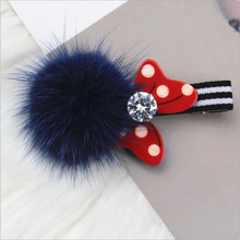 Boutique Hair Ball Cute Minnie Mouse Ears Hair Clip Pin Accessories For Women Girl Children Hair Barrette Clip Hairpin Ornaments(China)