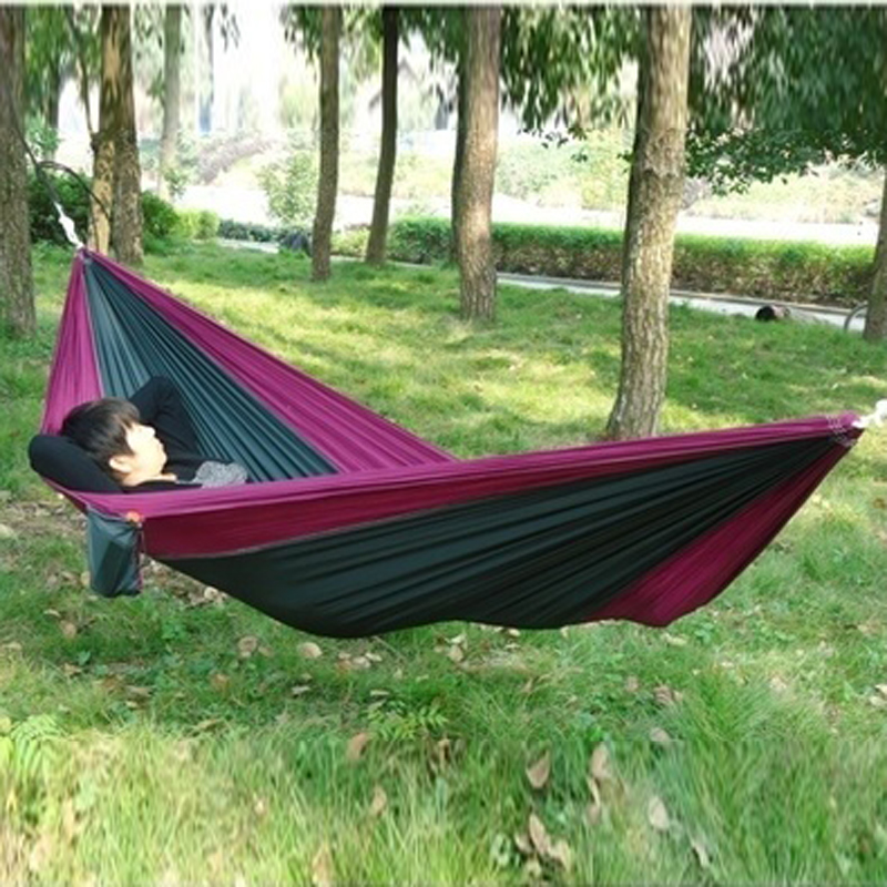 Portable Outdoor Traveling Camping Parachute Nylon Fabric Hammock For Two Person<br><br>Aliexpress
