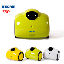 ESCAM Robot QN02 WIFI wireless IP Camera HD 720P 1MP Remote Move IP cam Baby Monitor Touching Interaction Audio Speaker Ipcam